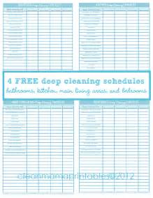 deep cleaning 4 free printables clean mama