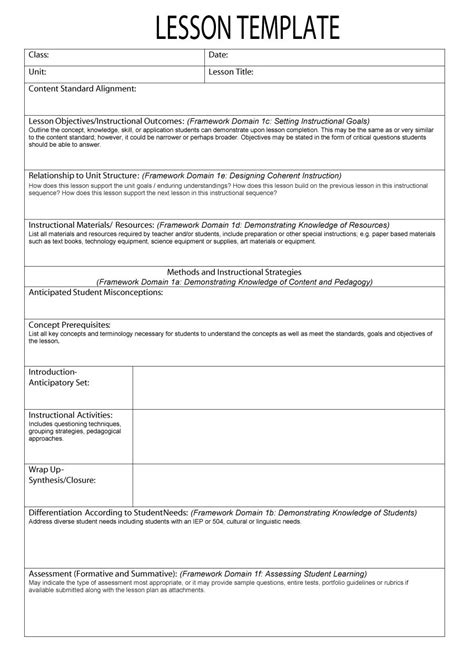 common weekly lesson plan template asca lesson plan template crescentcollege org