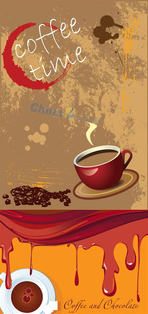 free powerpoint templates food and beverage retro coffee poster vector graphics