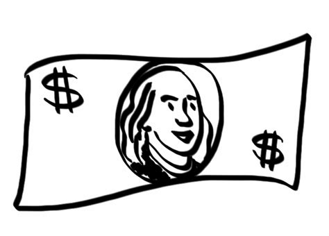 Drawing 100 Dollar Bill by Jeannelking How To Draw A Enough Dollar Bill