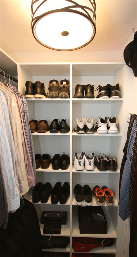 mens shoe closet basketball running shoe display
