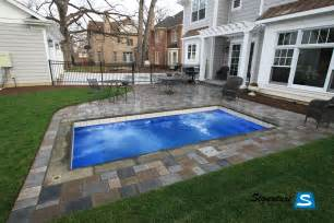 Pool Designs For Small Backyards Palladium Plunge Model Pool From Leisure Pools Signature