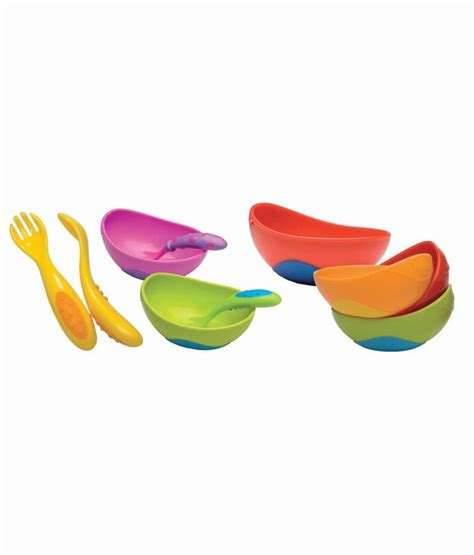 Nuby Sure Grip Bowl Fork Spoon nuby sure grip bowl with spoon fork baby feeding