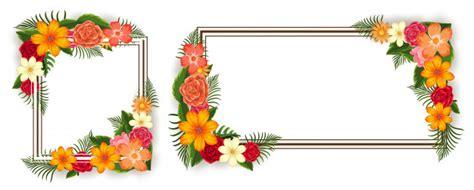 cornici con fiori due cornici con fiori colorati scaricare vettori premium