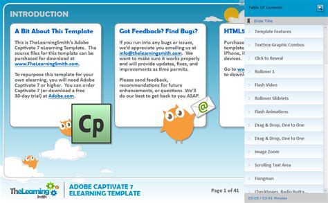 captivate template the learning smith captivate 7 elearning template