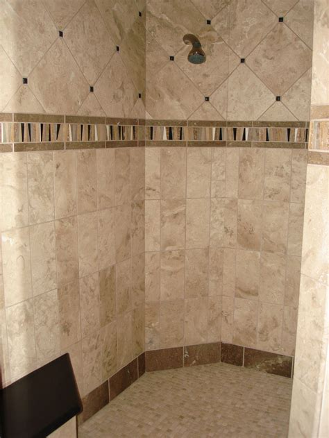 Wall Tile Designs Bathroom 20 Cool Ideas Travertine Tile For Shower Walls With Pictures