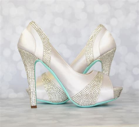 Wedding Shoes With Blue Soles by Wedding Shoes White Platform Peep Toe Wedding Shoes