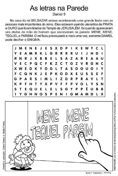 Escola Bíblica: Atividades de Daniel