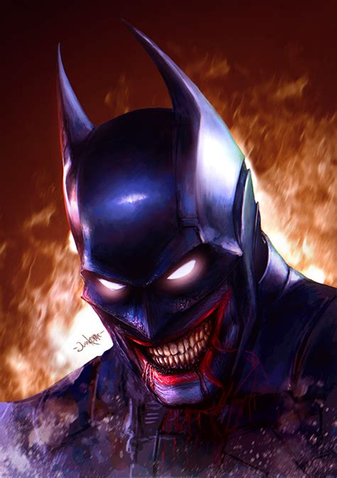artstation  batman  laughs eugene gore junkome