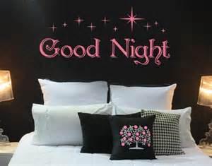 Orange And Grey Bedding Good Night Wall Decal Sticker Mural Art Home Decor