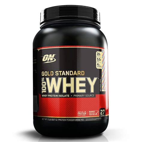 Whey Optimum Nutrition optimum nutrition gold standard 100 whey birthday cake 2 lb 907 g iherb