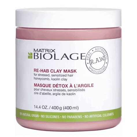 Detox Argile by Masque D 233 Tox 224 L Argile R A W Biolage 400 Ml Pas Cher