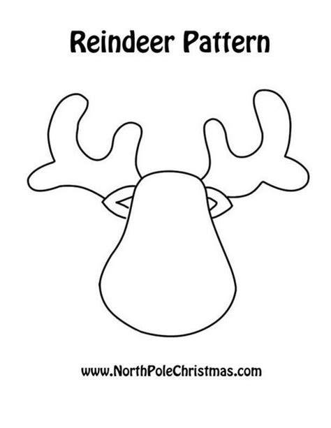 pattern for felt reindeer head antlers template colou