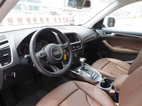 Audi Q5 Brown Interior by Dubizzle Dubai Q5 Audi Q5 Sline 2015 White With Brown