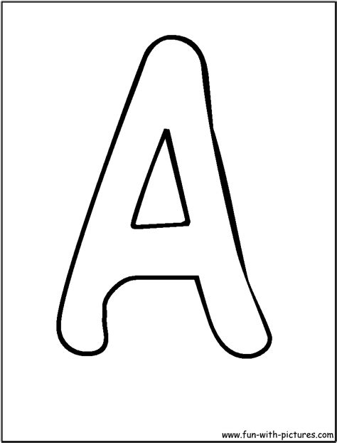 printable alphabet letters one per page bubble letters a coloring page kids learning fun