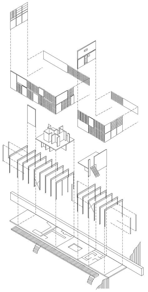 Rietveld Schroder House Floor Plans eames house exploded axonometric of eames house