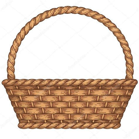 clipart basket empty woven basket stock vector 169 reinekke 62057881