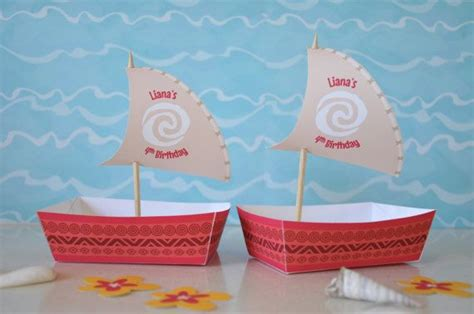 moana boat snack moana polynesian inspired boat food snack by