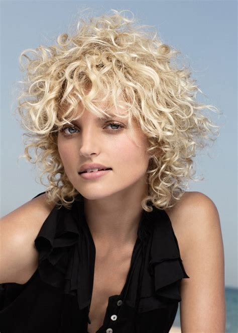 loose perms for short hair wild loose perm hairstyle