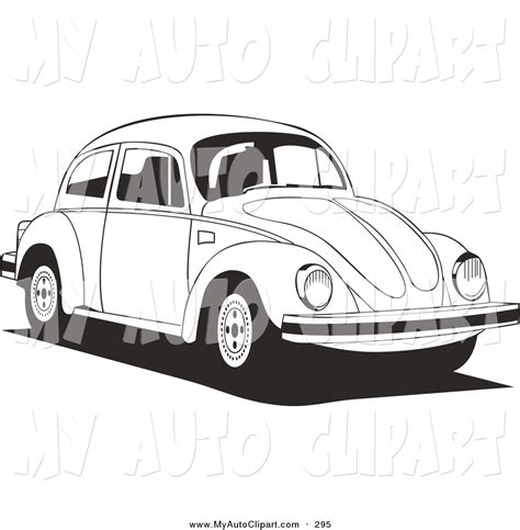 volkswagen car white car black and white drawing www imgkid com the image