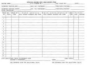 truck drivers trip sheet template best photos of trucker log sheets truck drivers trip