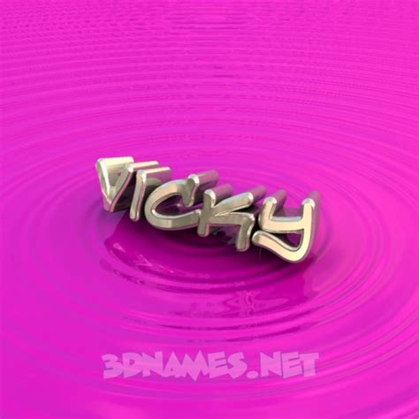 3d wallpaper vicky preview of pink graffiti for name vicky
