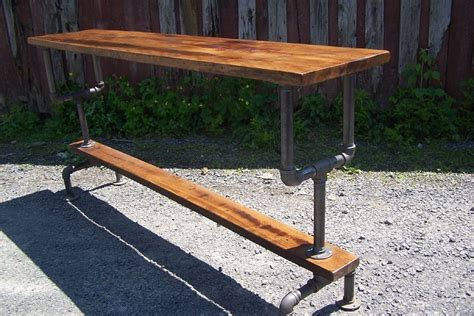 bar style kitchen table buy a made industrial styled bar height table with a
