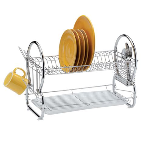 Dish Rack 2 Tier by Two Tier Compact Dish Rack Compact Dish Rack Easy Comforts