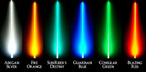 what color lightsaber lightsaber color meanings lightsaber colors s
