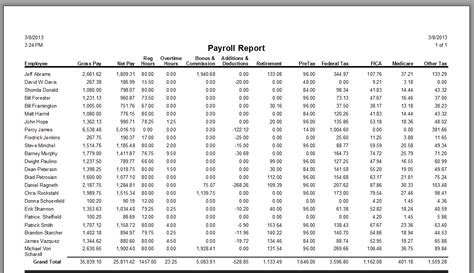 payroll summary report template products desco service industry solutions