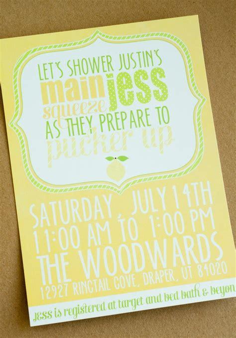 lemon themed wedding invitations lemon bridal shower printable diy pucker up invitation