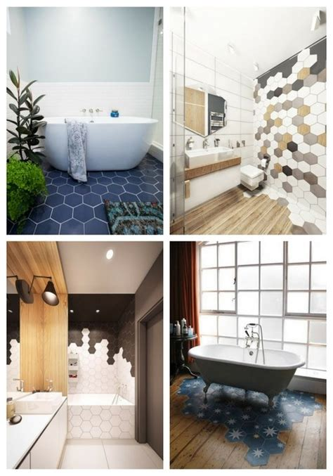 Trendy Bathroom Ideas by 29 Trendy Hexagon Tile Ideas For Bathrooms Comfydwelling