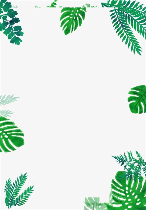 Green Leaf Border Decoration Leaf Green Png Image And Clipart For Free Download Leaf Border Template