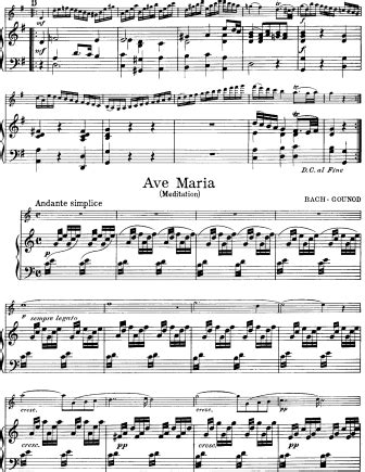 bach gounod ave marig ave bach gounod charles gounod free violin