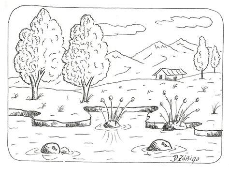 imagenes para dibujar a lapiz de paisajes faciles paisajes sin pintar imagui