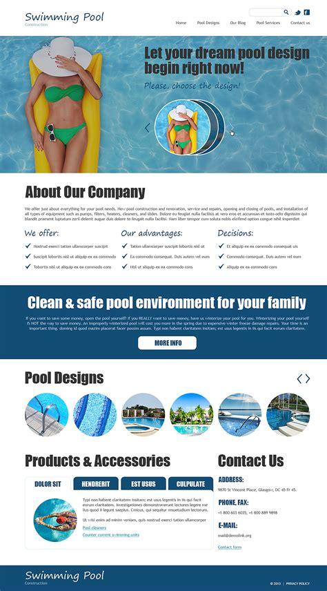 Swimming Pool Joomla Template 47908 Swimming Pool Website Templates Free