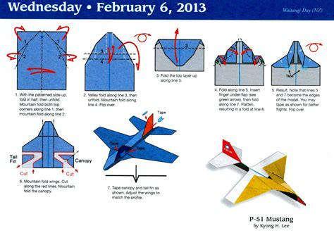 How To Make A Paper Airplane Called The Eagle - paper airplane calendar
