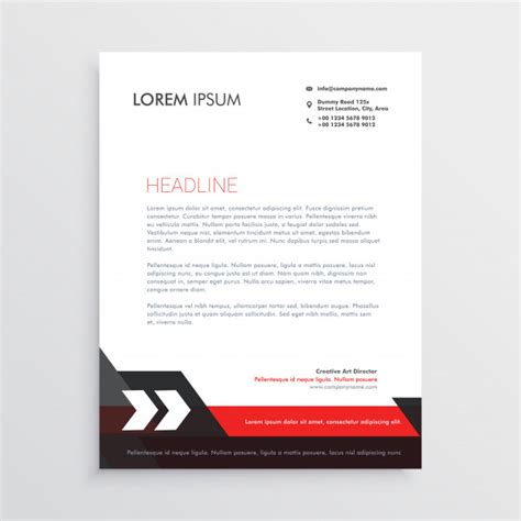 free download stationary layout design vector red black letterhead template design vector free download