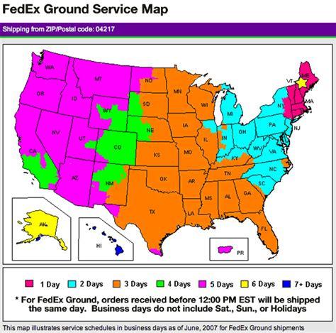 fedex ground map fedex ground service images