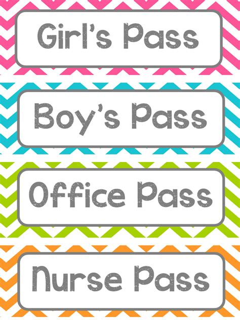 classroom bathroom passes smartie pants student passes freebie