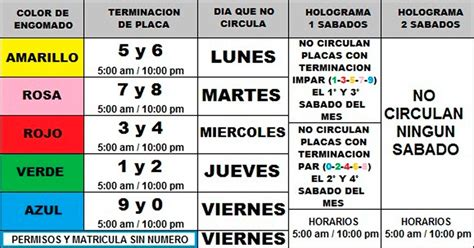 calendario doble no circula por contingencia h ayuntamiento de atizap 225 n de zaragoza