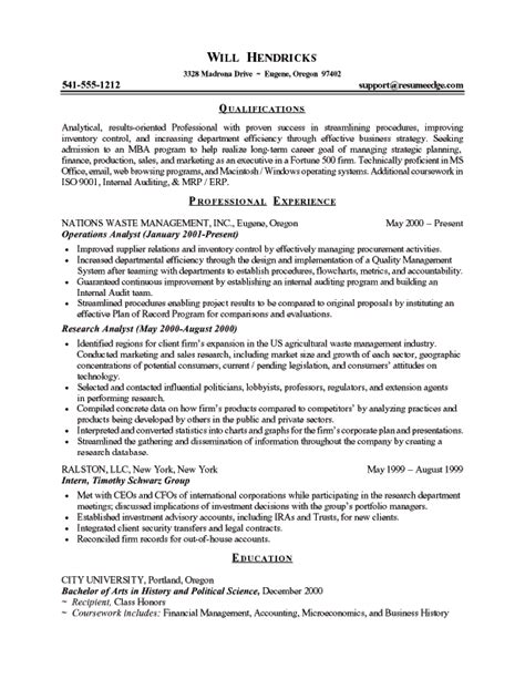 brilliant business school application resume resume