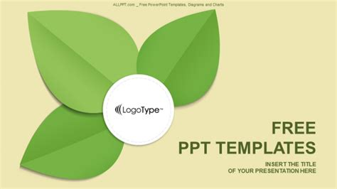 template ppt free green green leaf abstract powerpoint templates