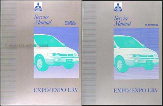 download car manuals 1996 mitsubishi expo lrv electronic throttle control 1992 1996 mitsubishi expo expo lrv service shop manual original 2 volume set