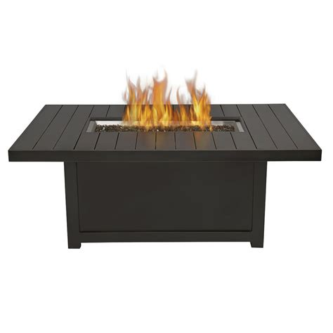 gas table napoleon rectangular patioflame pit table