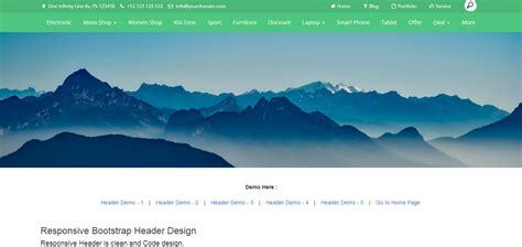 design header opencart upperi responsive bootstrap header design by