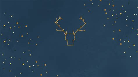 wallpaper mac minimal raindeer minimal christmas illustration desktop wallpaper
