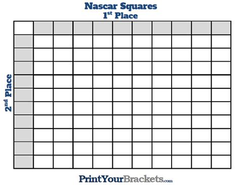 Office Football Pool Nascar 100 Squares Grid Printable Search Results Calendar 2015