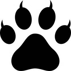 cat pawprint claws free clip art