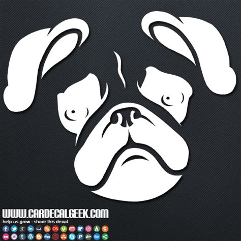 pug car sticker pug car decal graphic stickers